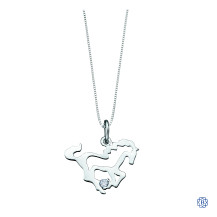 10kt White Gold Canadian Diamond Horse necklace