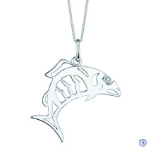 10kt White Gold Canadian Diamond Salmon necklace