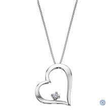 10kt White Gold Canadian Diamond Heart necklace