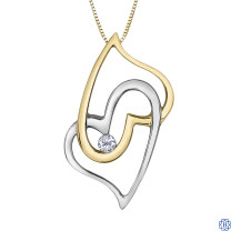 10kt White and Yellow Gold Canadian Diamond necklace