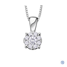 10kt White Gold Diamond Pendant