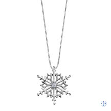 10kt White Gold Canadian Diamond Snowflake necklace