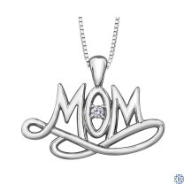 Silver Canadian Diamond Mom necklace