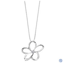 Silver Canadian Diamond Flower necklace