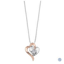 10kt White and Rose Gold Canadian Diamond necklace
