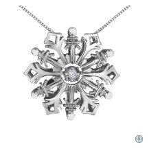 Silver Canadian Diamond snowflake necklace