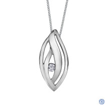 Silver Canadian Diamond necklace
