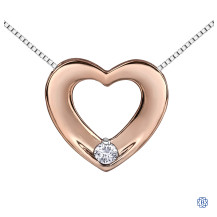 10kt Rose Gold Canadian Diamond Heart necklace