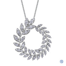 10kt white gold diamond pendant with chain