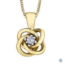 10kt Yellow Gold Canadian Diamond Necklace