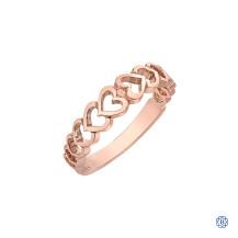 10kt rose gold stackable ring