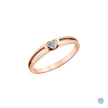 10kt rose and white gold diamond stackable ring