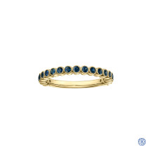 10kt yellow gold and sapphire stackable ring