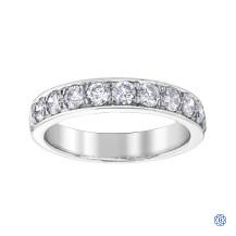 10kt white gold diamond eternity band