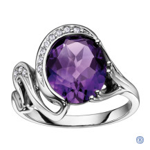 10kt White Gold Amethyst Ring