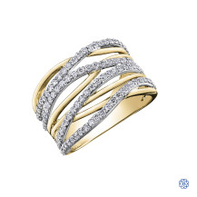 10kt white and yellow gold diamond ring