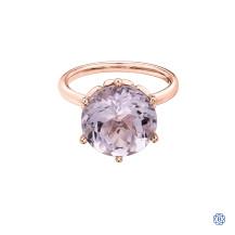 10kt Rose Gold Amethyst Ring