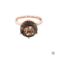 10kt Rose Gold Smokey Quartz Ring