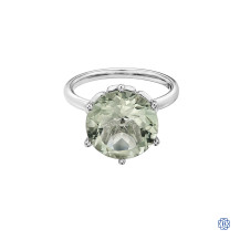 10kt White Gold Green Amethyst Ring