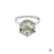 10kt White Gold Green Amethyst Ring