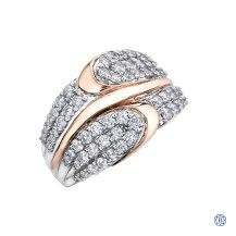 10kt Rose Gold Diamond Rinng