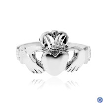 10kt White Gold Claddagh Ring