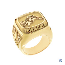Hamilton Tiger-Cats Men's Large 10kt Yellow Gold Ring