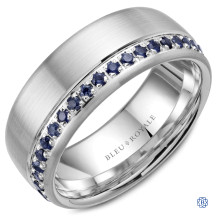 Bleu Royale Gold with Blue Sapphire Wedding Band