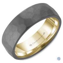 Bleu Royale 14kt Gold and Tantalum Wedding Band