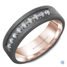 Bleu Royale 14kt Gold and Tantalum Wedding Band with Diamonds