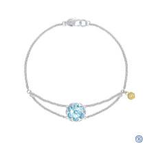 Tacori 18k925 Sonoma Skies Split Chain Bracelet Featuring Sky Blue Topaz