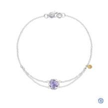 Tacori 18k925 Sonoma Skies Split Chain Bracelet Featuring Purple Amethyst