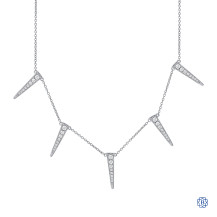 14kt White Gold Triangle Diamond Necklace