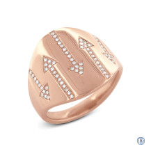 14kt Rose Gold Arrows Diamond Ring