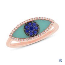14kt Rose Gold Evil Eye Ring