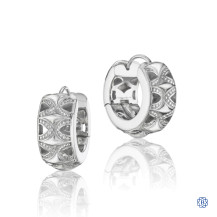 Tacori 18K925 Classic Rock Hoop Earrings