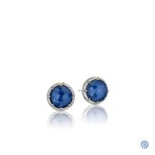 Tacori 18K925 Blue Quartz Earrings