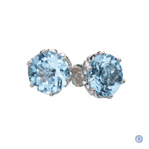10kt White Gold Sky Blue Topaz Earrings