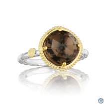 Tacori 18K925 Simply Gem Ring Featuring Smokey Quartz