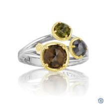 Tacori 18K925 Budding Brilliant Ring with Mixed Gemstones