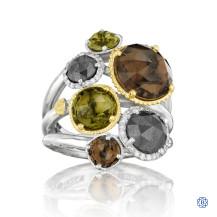 Tacori 18K925 Precious Cluster Ring Featuring Multi-Stones