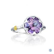Tacori 18K925 Sonoma Skies Crescent Bezel Ring Featuring Purple Amethyst