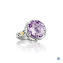 Tacori 18K925 Crescent Gem Ring featuring Amethyst