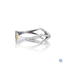 Tacori 18K925 Pavé Peak 0.13ct Diamond Ring