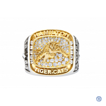 Hamilton Tiger-Cats 10kt Yellow Gold & Sterling Silver Diamond Ring