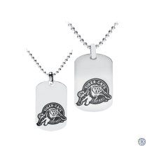 His and Hers Hamilton Tiger-Cats Dog Tags with Chains