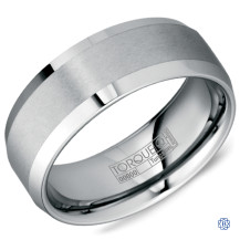 Tungsten Wedding Band with Sandpaper Finish