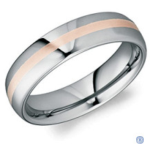 CrownRing Tungsten and 18kt Gold Wedding Band