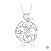 Gabriel & Co. 14kt White Gold Chain & 14kt White Gold Diamond Pendant