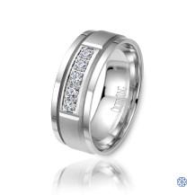 CrownRing Gold with Diamond Men's Wedding Band